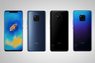This is what the Huawei Mate 20 Pro looks like with a Twilight paint job
