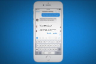 This is how Facebook Messenger's unsend feature looks and works