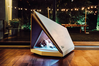 This futuristic Ford dog kennel blocks the sound of booming fireworks