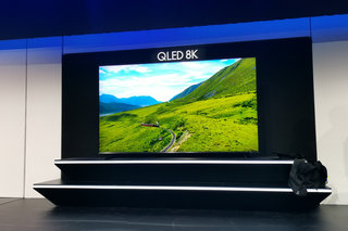 Samsung's huge 98-inch 8K QLED TV sits above a completely new 2019 8K lineup