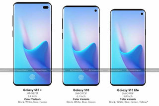 Samsung Galaxy S10+, S10 and S10 Lite renders show top-right punch-hole camera again