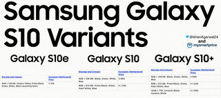New Samsung Galaxy S10 prices leak cheaper than first thought image 2