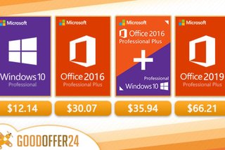 Get Windows 10 Pro for $12 and Microsoft Office for $30