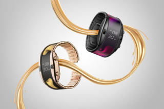 Nubia Alpha is a new 18K gold-plated smartcuff with a flexible display