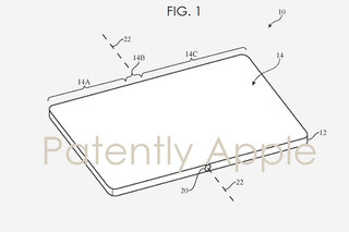 This Apple patent is for a folding phone with a super-durable fold