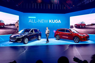 The new Ford Kuga is the company's first car to offer mild, plug-in or full hybrid options