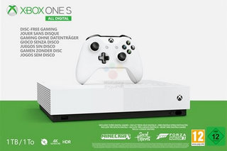 This is what the upcoming no-disc Xbox One S All Digital looks like