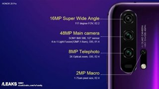 Honor 20 Pro camera system might include a dedicated macro lens image 3