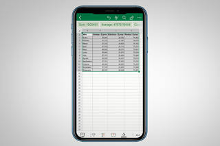 How to use the Excel app to photograph and import printed spreadsheets image 3