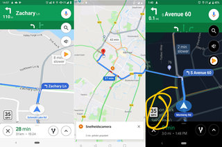 Google Maps navigation getting speed limits speed cameras and traps at last image 2