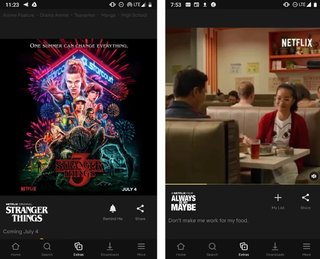 Netflix tests intragramming style, including trailers and multiple images 2