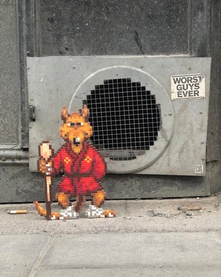 Fantastic Street Artist Transforms The World With Incredible Pixel Art image 14