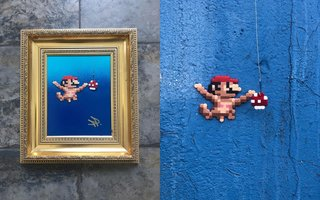 Fantastic Street Artist Transforms The World With Incredible Pixel Art image 6