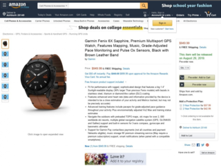 Garmin Fenix 6x Pops Up Briefly On Amazon Prior To 29 Aug Launch image 2