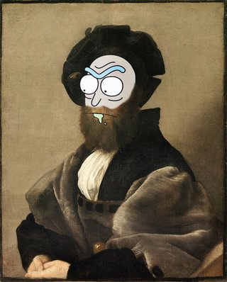 Amusing Images Of Cartoon Characters In Photoshopped Into Renaissance Paintings image 8