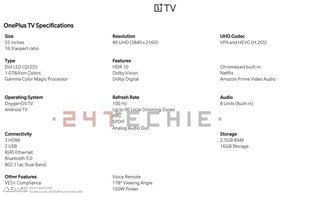 Massive OnePlus TV pics and specs leak reveals all