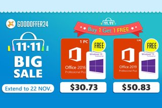 Double 11, Double The Profit! Buy 1 get 1 free: Get Windows 10 Pro for free!!!