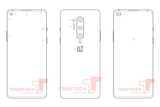Leaked OnePlus 8 sketches appear to confirm quad camera and hole punch display image 2