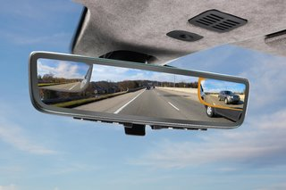 Aston Martin has a new rearview mirror with three video feeds