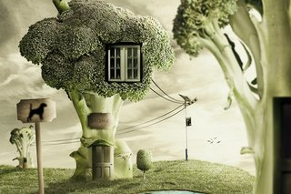 Check out these amazing Photoshop jobs - making edible architecture!
