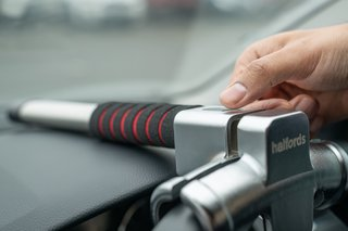 Halfords' new steering wheel lock is the world's first with a fingerprint reader