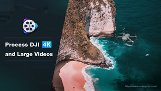 Having headaches processing large DJI videos? It's no problem with VideoProc