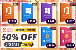 Get Windows 10 Pro for just $9.49, Office 2019 for $32.27 - up to 50% off!