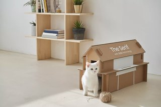 Some of Samsung's TV packaging can now be recycled into a cat house