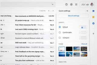 New Gmail update: Quick settings menu coming to your inbox window