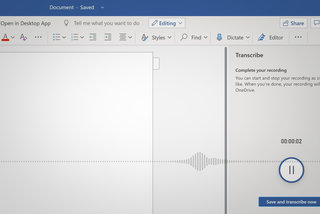 How to transcribe live conversations or recorded audio in Microsoft Word