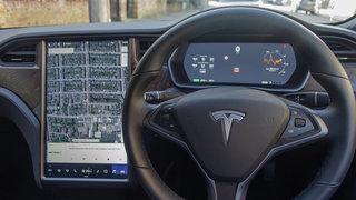 Tesla's latest update for vehicles allows them to detect speed limit signs
