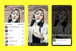 Snapchat goes after TikTok by adding music to snaps