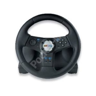 Logitech Rally Vibration Feedback Wheel and pedals for PS2