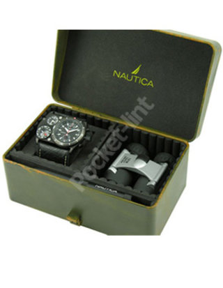 Nautica N-MX 62 Black Leather Boxed Set