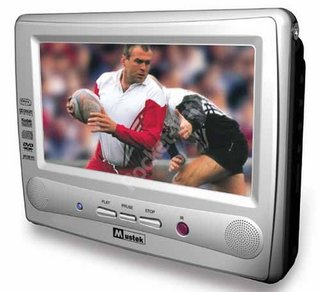 Mustek PL8C70 portable DVD player and PL8D70 portable LCD monitor