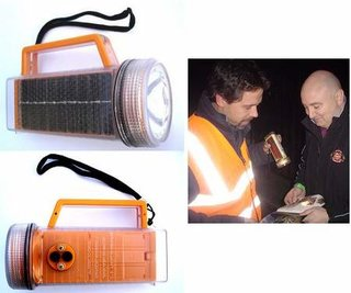 Waterproof solar torch