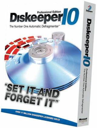Diskkeeper 10 defraging software