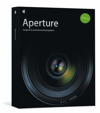 Apple Aperture photo editing software