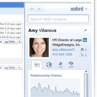 First Look: Xobni for Gmail