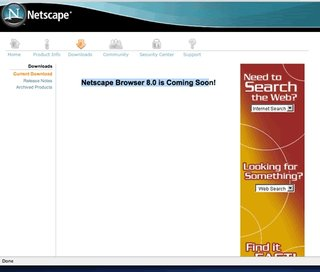 The hunt for Netscape browser 8.0?