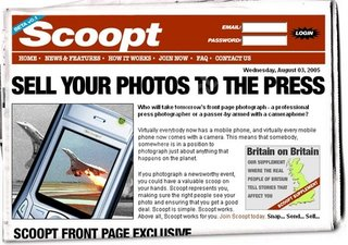 Scoopt offer money making idea for mobile phone photos