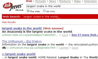 Ask Jeeves launches Web Answers