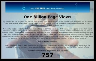 New website launched with aim of getting one billion page views