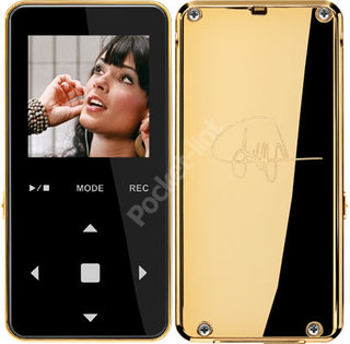 MP3 player goes bling bling with 24-carat gold back
