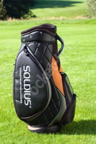 Solar powered golf bag promises to charge your mobile phone