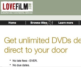 WEBSITE OF THE DAY - lovefilm.com