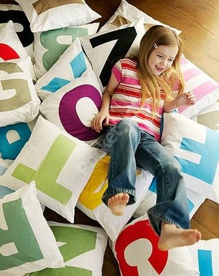 Letter pillows - you know, for kids