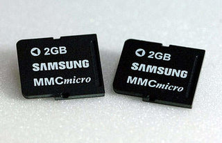 Samsung announced 2GB postage stamp sized memory card