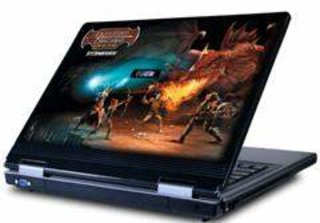 Rock launch Dungeons and Dragons painted laptop