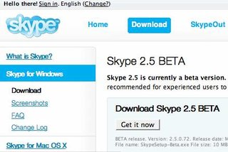 Skype upgrades to version 2.5